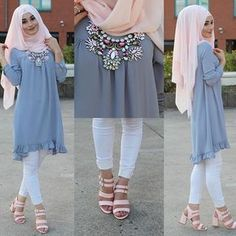 Image may contain: 2 people Islamic Fashion, Muslim Fashion, Modest Fashion, Fashion Outfits, Hijab Style, Hijab Chic, Modele Hijab, Hijab Fashionista, Casual Hijab Outfit