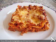 Super leckere Lasagne!  Verfeinert mit etwas Schärfe schmeckt es noch viel besser!