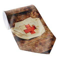 #vintage - #WW2 nurse hat. Army medical corps Tie