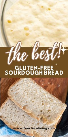 This delicious fluffy gluten free sourdough bread makes the best sandwiches. Loaf style, this homemade sourdough recipe is so easy to make with your sourdough starter. www.fearlessdining.com Chef Recipes, Dairy Free Recipes, Bread Recipes, Baking Recipes, Easy Gluten Free Sourdough Bread Recipe, Best Gluten Free Bread, Crock Pot Bread, Wood Tables, Low Carb Bread