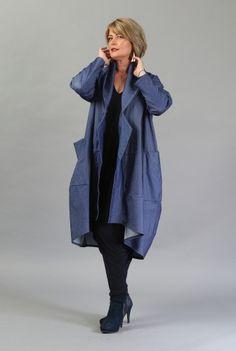 Jacheta denim larga C014-MD -  Ama Fashion