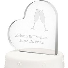 Personalized Acrylic Heart Cake Topper #personalized #caketopper