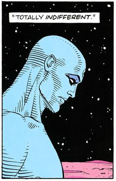 thematbickley.wordpress.com  Dr. Manhattan by Alan Moore  Illustrated by Dave Gibbons