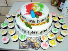 Bob Marley Cake on Cake Central Fondant Cakes, Cupcake Cakes, Cupcakes, Bob Marley Cakes, Rasta Party, Yummy Treats, Sweet Treats, Cake Central, Specialty Cakes