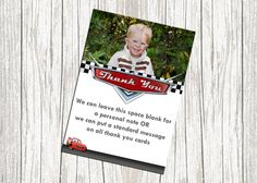 Lightning McQueen Cars Birthday Thank You Card -