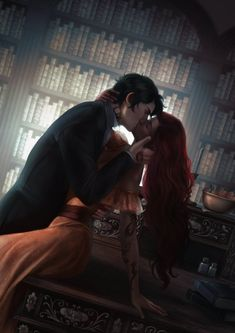 Today I received this fan art in my email from Cassandra Clare's newsletter, amazing art depicts the scene exactly as I imagined it😍😍😍 Livros Cassandra Clare, Cassandra Clare Books, Cassandra Jean, Fantasy Inspiration, Character Inspiration, Character Art, Book Characters, Fantasy Characters, Fantasy Couples