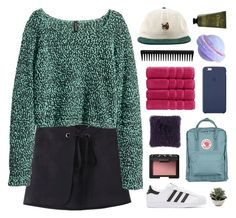 """we danced the night away"" by ruthaudreyk ❤ liked on Polyvore featuring H&M, adidas Originals, NARS Cosmetics, Christy, Olivina and GHD"