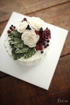white lake flower cake : 네이버 블로그