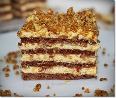 Sweet Desserts, Sweet Recipes, Delicious Desserts, Yummy Food, Hungarian Desserts, Hungarian Recipes, Cookie Recipes, Dessert Recipes, Torte Cake