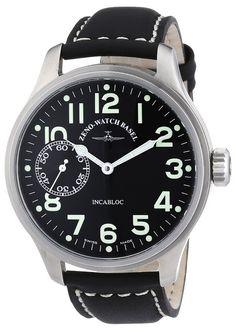 Zeno Watch Basel 8558-9-a1 - Reloj de caballero automático, correa de piel color negro