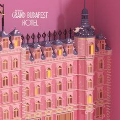 The grand budapest hotel Grand Budapest Hotel, Grand Hotel, Diorama Ideas, 3d Craft, Art Inspo, Film, Illustration, Projects, Crafts