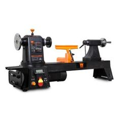 WEN 12 in. by 16 in. Variable Speed Multi-Directional Cast Iron Wood Lathe with 16 in. Capacity Bowl-Turning Back - The Home Depot - WEN 12 in. Wood Turning Lathe, Wood Turning Projects, Best Wood Lathe, Micro Lathe, Cast Iron, It Cast, Bowl Turning, Woodworking Lathe, Woodworking Projects
