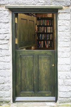 """""""literature is my utopia."""" - helen keller — littledallilasbookshelf:   door into a 2nd hand..."""