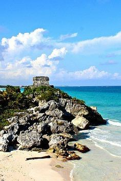 If you visit Tulum Mexico then a trip to the Tulum Ruins is a must. These ruins are at the top of a cliff overlooking the beautiful Caribbean Sea. Click here to view our photo tour of Tulum Ruins
