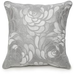 Rodeo home grey cut velvet oblong decorative pillow 20 liked new directions gray ava square gray embroidered floral decorative 11 teraionfo
