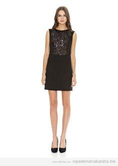 Vestido negro con lentejuelas de Mango por sólo 22'95€ | Ropa de ... add sleeves and change the decoration pattern