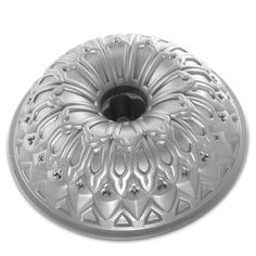 Nordic Ware stained glass bundt tin made from heavy cast aluminium.