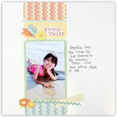 Summer Additions Scrapbooking Layout from Creative Memories  http://www.creativememories.com