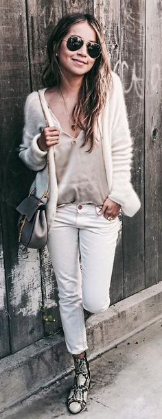#sincerelyjules #spring #summer #besties | Cream + Nude + White + Snake