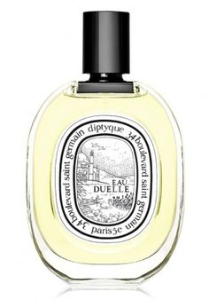 Eau Duelle Eau de Toilette by diptyque Paris. Cardamom, Elemi, Juniper, saffron, calamus, vanilla, black tea, amber