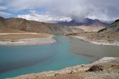 The beautiful Indus River in Pakistan