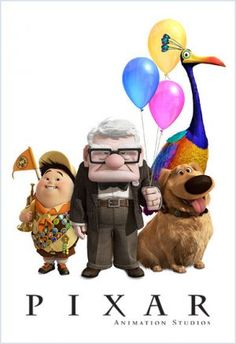 'Up' by Pixar. Walt Disney, Disney Up, Disney Love, Disney Magic, Disney Pixar, Disney Characters, Disney Stuff, Up Pixar, Pixar Movies