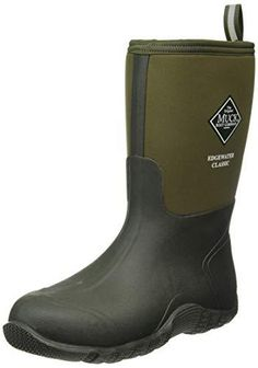 Muck Boot The Original Company, Men's Edgewater Classic Mid 100% Waterproof, Rubber and Neoprene Upper for Durability and Flexible Protection Breathable Mesh Lining Self-Cleaning Calendered outsole bioDEWIX footbed insert topcover with NZYM for Odor control and Moisture Management 5mm Neoprene for comfort and performance Muck Boots, Hunter Boots, Shoe Boots, Ankle Boots, Mens Chain Necklace, Mens Glasses, Black Stainless Steel, Online Fashion Stores, Shoe Collection