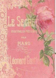 ~Rose on sheet music cover