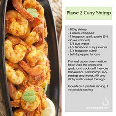 Phase 2 Curry Shrimp - HCG Diet Blog