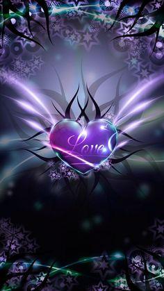 Love Heart wallpaper by mirapav - 33 - Free on ZEDGE™ Heart Wallpaper, Purple Wallpaper, Butterfly Wallpaper, Love Wallpaper, Cellphone Wallpaper, Colorful Wallpaper, Wallpaper Backgrounds, Phone Backgrounds, Iphone Wallpapers
