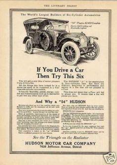 """Hudson """"54"""" Phaeton Car (1913)"""