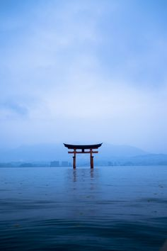 Torii gate of Itsukushima shrine, Hiroshima, Japan