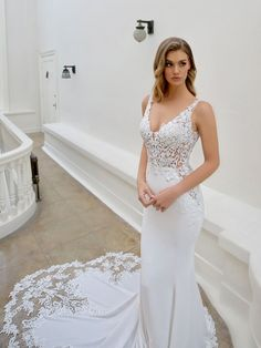Wedding Dress Lillium by Blue by Enzoani - Search our photo gallery for pictures of wedding dresses by Blue by Enzoani. Find the perfect dress with recent Blue by Enzoani photos. Lavender Wedding Dress, Diamond Wedding Dress, Lace Wedding Dress, Stunning Wedding Dresses, Wedding Dress Sizes, Black Wedding Dresses, Wedding Dress Shopping, Bridal Dresses, Wedding Gowns