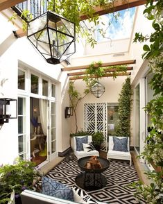 Modern indoor atrium conservatory sun room lounge period property