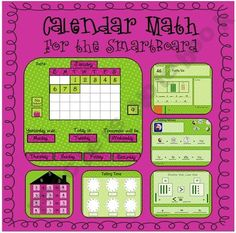 Calendar Math for the SMART Board! I LOVE this! Why haven't I thought of this? Yay! More ideas for math journaling and calendar combined! I love time savers!