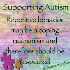 Stimming should be respected especially when it helps autistics