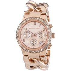 Michael Kors Watches : Michael Kors Womens Runway Rose GoldTone Stainless Steel Watch - Check this awesome product by going to the link at the image. - Watches Topia - Watches: Best Lists, Trends & the Latest Styles Cheap Michael Kors, Michael Kors Watch, Armband Rosegold, Couleur Or Rose, Mode Rose, Rose Gold Watches, Michael Kors Collection, Stainless Steel Watch, Watch Bands