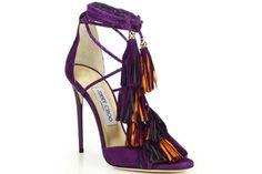Sapatos de Amarrar #jimmychooheelspurple
