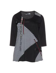 Jerseyshirt mit Stoffmix in Schwarz / Grau designed von Nais in der Kategorie Shirts bei navabi.de