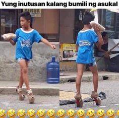 Memes Pinoy, Filipino Memes, Filipino Funny, Tagalog Quotes Funny, Pinoy Quotes, Jokes Quotes, Funny Jokes, Hilarious, Laugh Meme