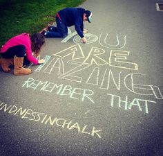 , We're sharing an Easy Sidewalk Chalk Art project that everyone can do. This Mosaic Sidewalk Chal,