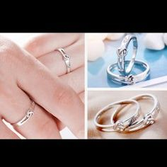 Love Each Other 925 Silver Rings for Couples