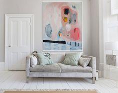 Gros caractères abstrait blanc de peinture avec par LolaDonoghue