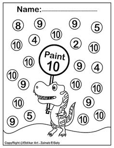 Set of ABC Dinosaur Trex Activity Paint a Dot Preschool Coloring sheets Kindergarten Addition Worksheets, Kindergarten Coloring Pages, Abc Coloring Pages, Abc Worksheets, Printable Coloring Pages, Coloring Sheets, Kindergarten Phonics, Coloring Worksheets, Alphabet Coloring