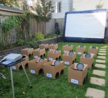 Audra-- this is what i saw that i was telling you about :-) Backyard Drive-In Movie {Summer Party Themes}