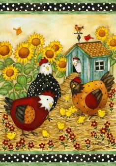 Garden Flag Chicken Coop - Chicken Garden Decorations: Presents for Chicken Lovers