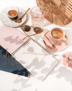Morning brainstorm session necessities featuring my notepad set I collaborated with on ? I heard they have free Coffee Photography, Still Life Photography, Lifestyle Photography, Product Photography, Morning Photography, Summer Aesthetic, Pink Aesthetic, Photo Pour Instagram, Illustration Mignonne