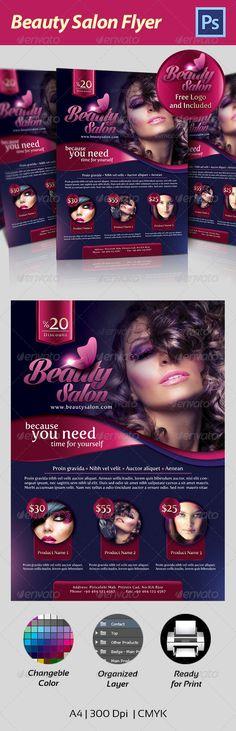 Beauty Salon Flyer - Corporate Brochures                              …