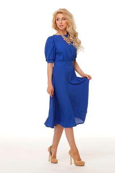 Blue Dress Short SleeveElegant DressWedding by FashionDress8, $96.00