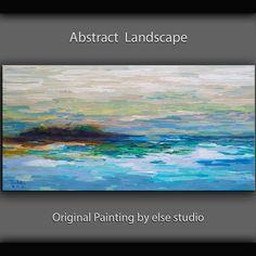 sale Original Oil painting Abstract art Modern by elsestudio